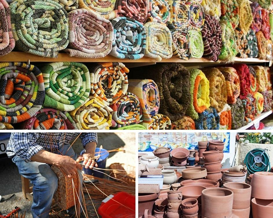 varias fotos artesanias en Almeria