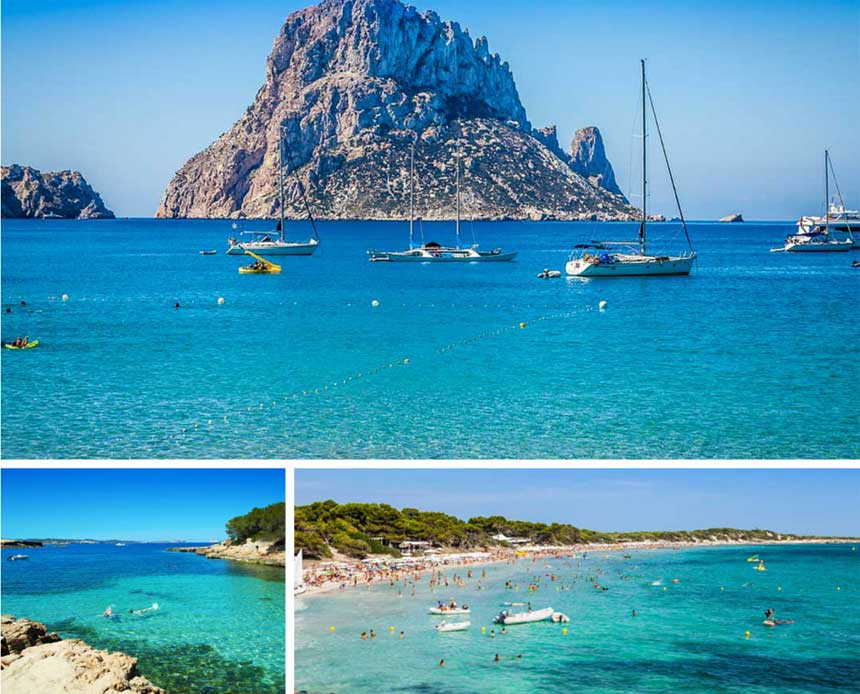 veleros frente a Es Vedrà en Ibiza