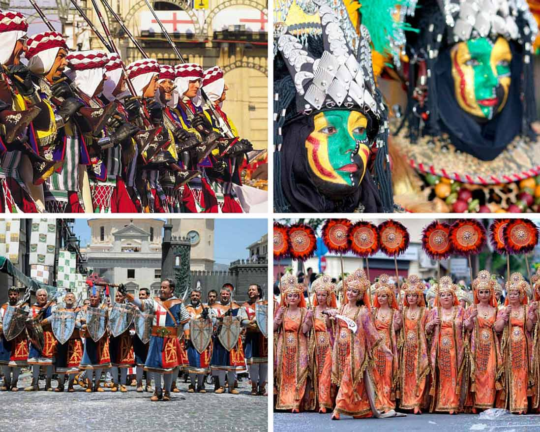 Disfraces de la fiesta de moros y cristianos de Alicante