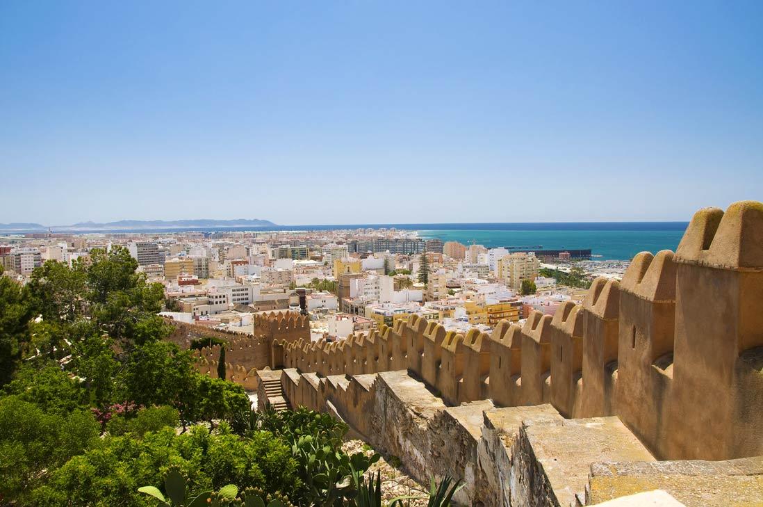 vista panoramica desde la Alcazaba musulamana de Almeria
