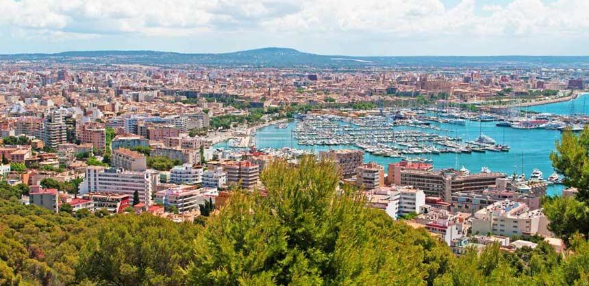 vista aerea del puerto de Palma de Mallorca