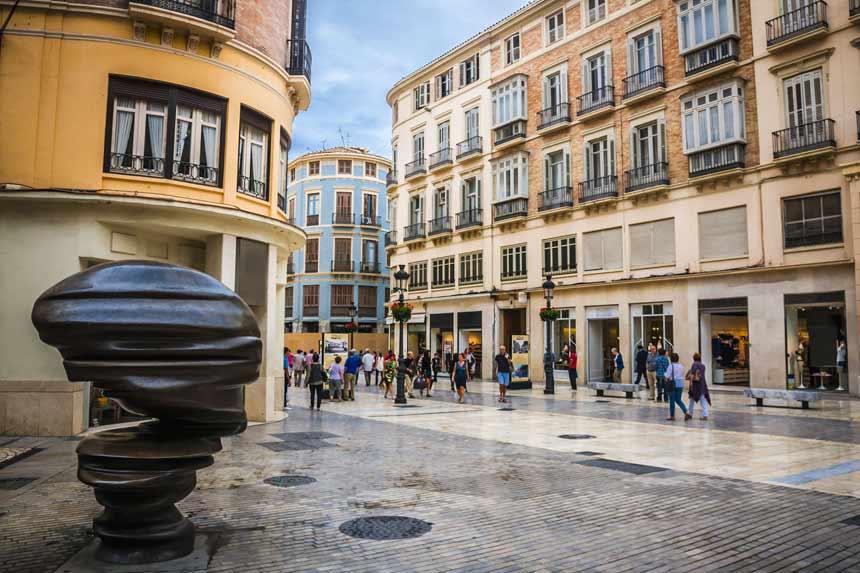 Calle comercial Calle Larios en el centro de Malaga