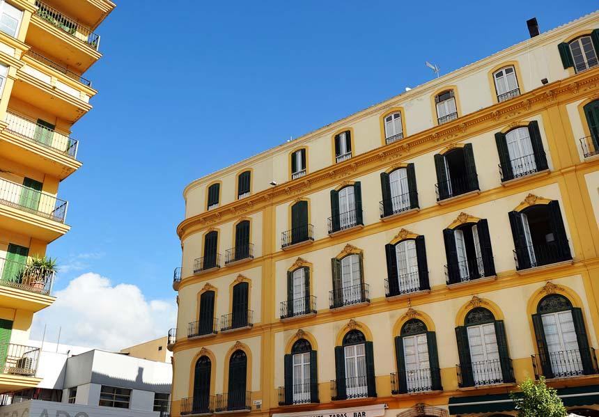 Fachada de la Casa natal Pablo Picasso en Malaga