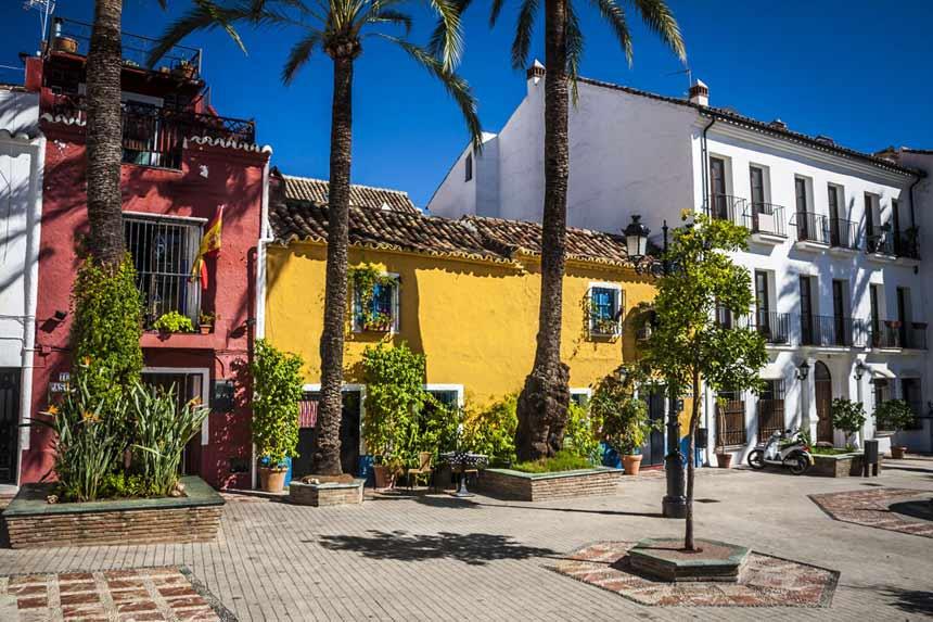 edificios antiguos del casco histórico de Marbella