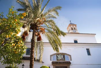 Vista de la Iglesia de la Encarnacion en Marbella, Malaga