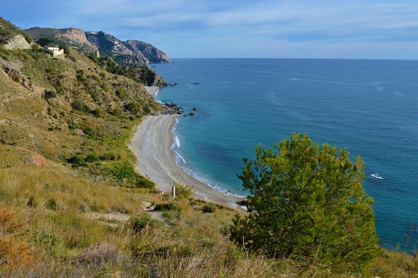 playas de Maro en Nerja