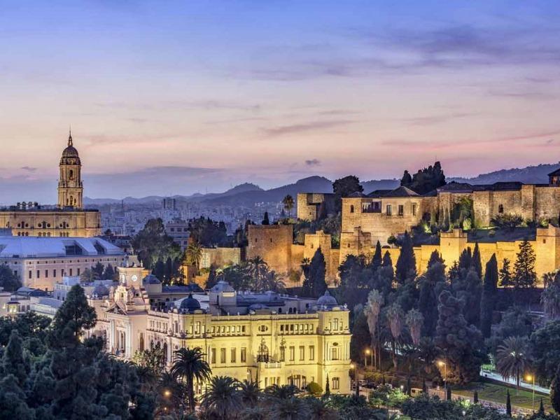 Preciosa vista panoramica de la alcazaba de Malaga en Costa del Sol