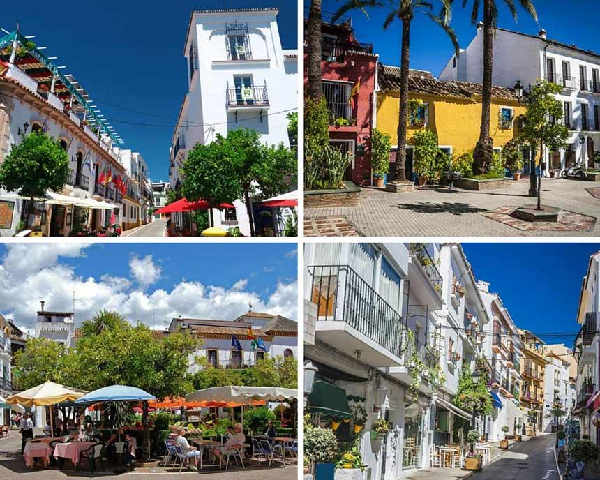 calles del casco antiguo de Marbella en la costa del sol