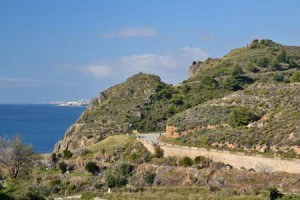 carretera en la costa de maro en NERJA