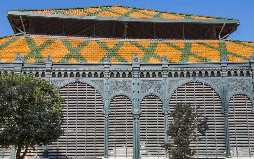 fachada del Mercado Central de Málaga