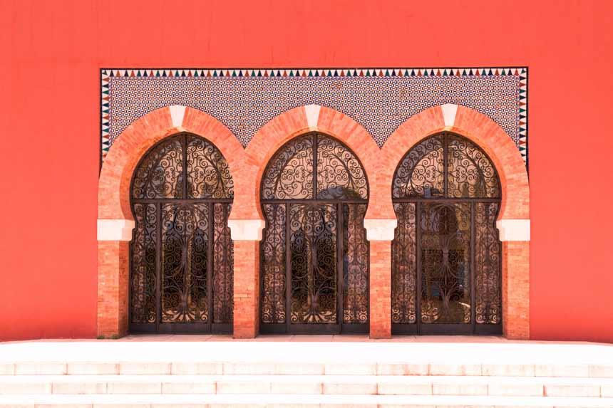 puertas arabes del castillo Bill Bill de Benalmadena