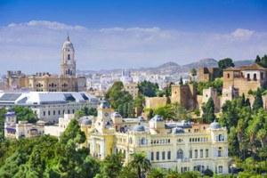 vista panoramica de ciudad de Malaga