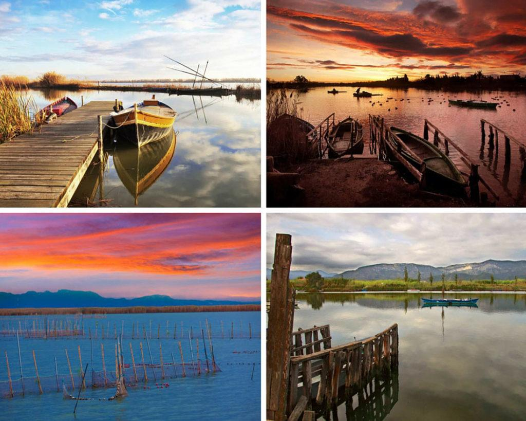 Photo collage de la naturalez en la Albufera de Cullera