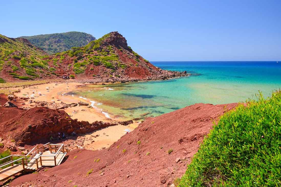 Vista panoramica cala Pilar en Menorca