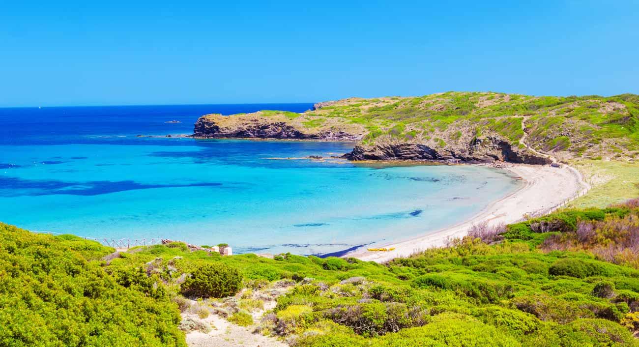 Cala den Tortuga en Menorca