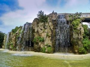 Imprescindibles de Cádiz Puente y cascadas del Parque Genovés de Cadiz, Andalucia