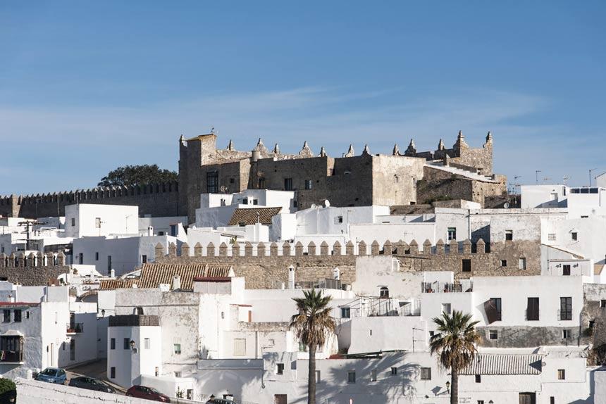 Vista del pueblo, Murallas y Castillo de Vejer de la Frontera