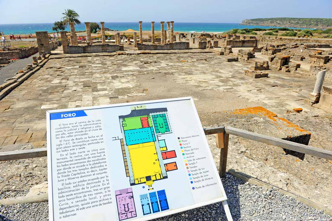 Conjunto arqueologico Baelo Claudia junto al mar, Tarifa