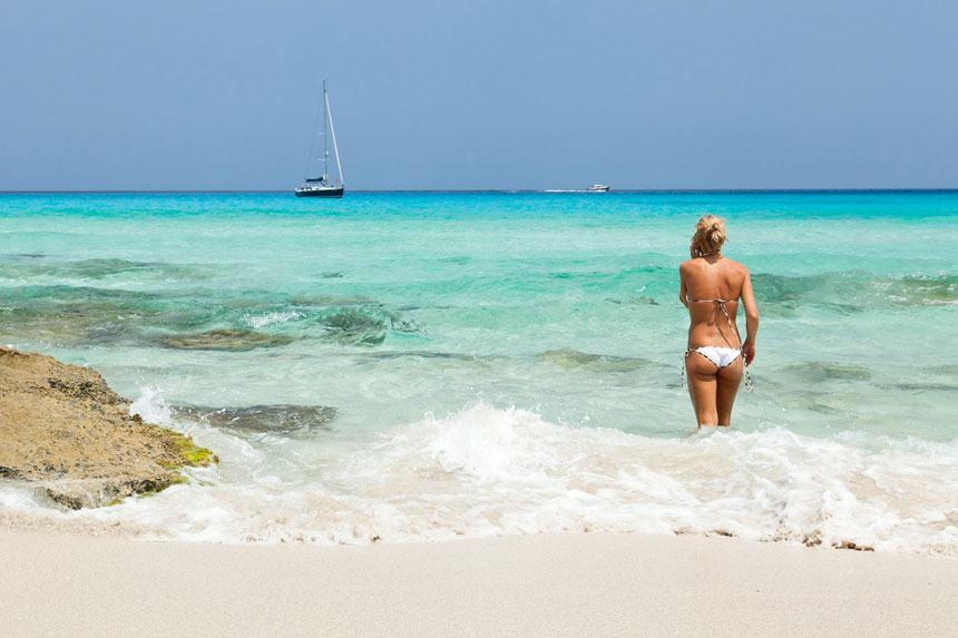 Ses Illetes beach in Formentera