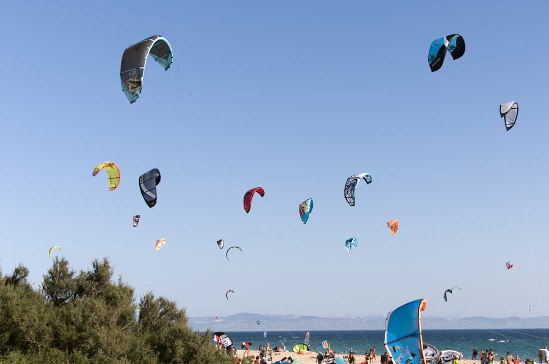 Kitesurf-Playa-Valdevaqueros,-Tarifa