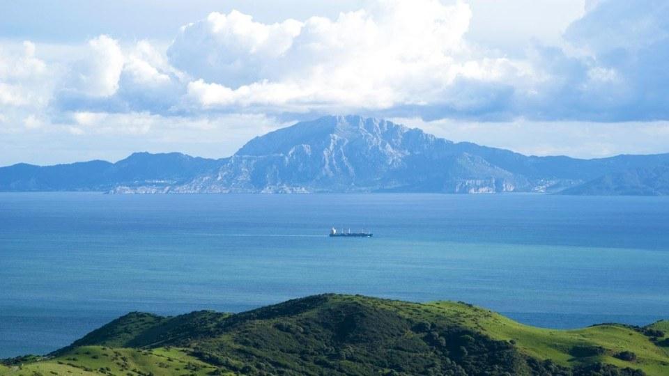 Vistas del Estrecho desde el mirador del Estrecho , Tarifa