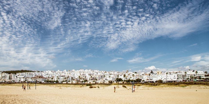 vista panoramica desde la playa de Vejer de la Frontera