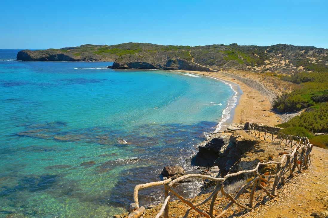 Playa d'en Tortuga en Menorca