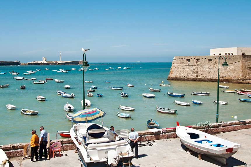 playa la Caleta en Cadiz