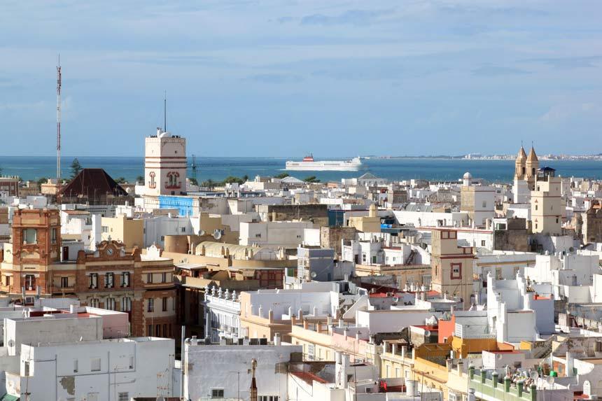 Torre Tamira en la ciudad de Cadiz