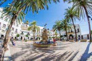 plaza de España en Verjer de la Frontera