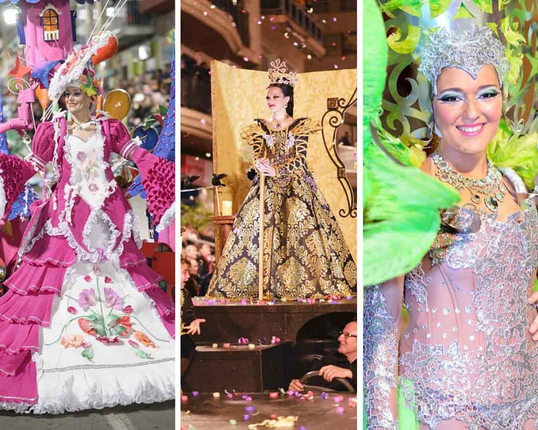 mujeres disfrazadas en el carnaval de Águilas en murcia