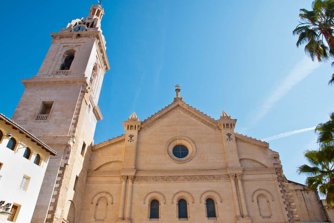 fachada principal de la colegiata de santa maria de Xativa