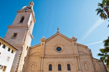 fachada colegiata de santa maria en Xativa