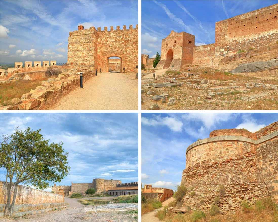 interior de las murallas del castillo de Sagunto en la comunidad valenciana