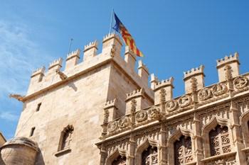 edificio de la lonja de seda en Valencia