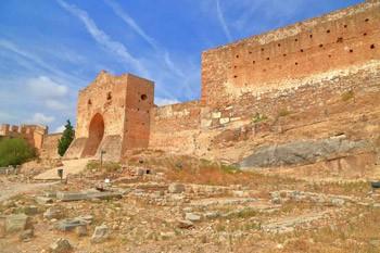 murallas del castillo de Sagunto en la comunidad valenciana