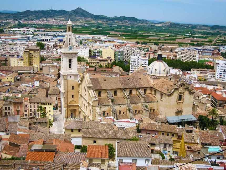 Vista aerea de la Colegiata de Santa María