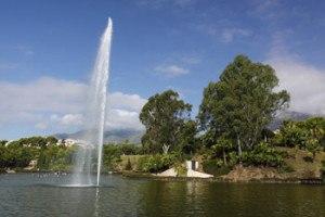 lago del parque de la paloma en Benalmadena