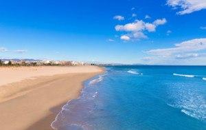 playa de sagunto en la comunidad valenciana