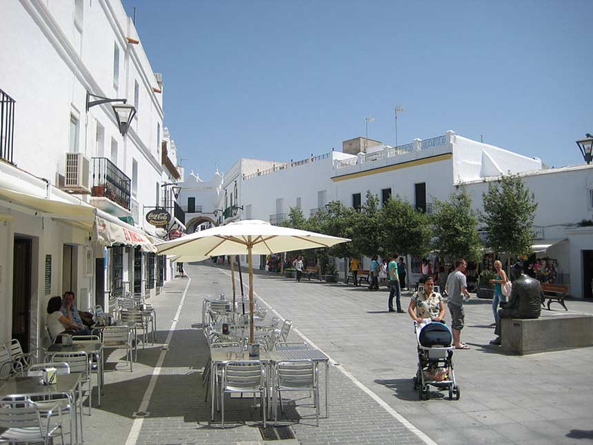 plaza de Espana en Conil de la Frontera