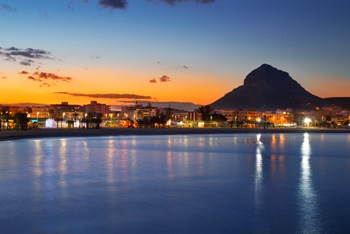 vista panoramica puerto de javea
