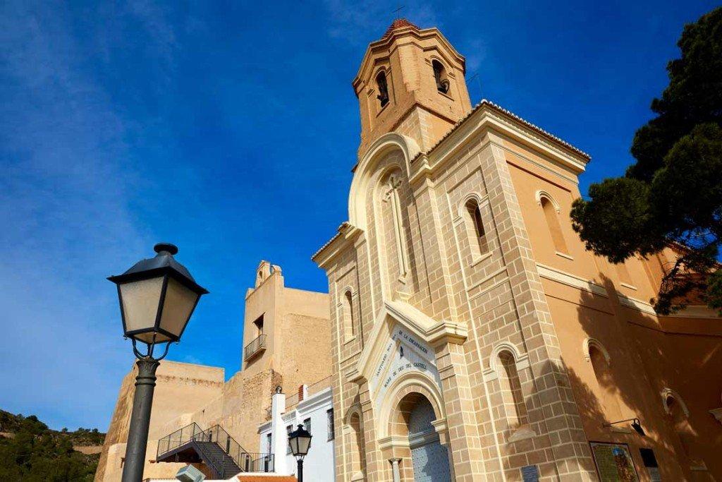 Santuario de la virgen de cullera en la comunidad valenciana