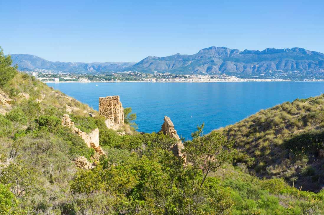 paisaje del Parque natutal Sierra Helada en la costa blanca comunidad valenciana
