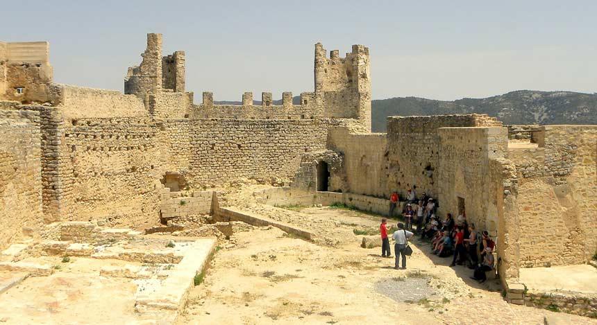 interior del castillo de Xivert