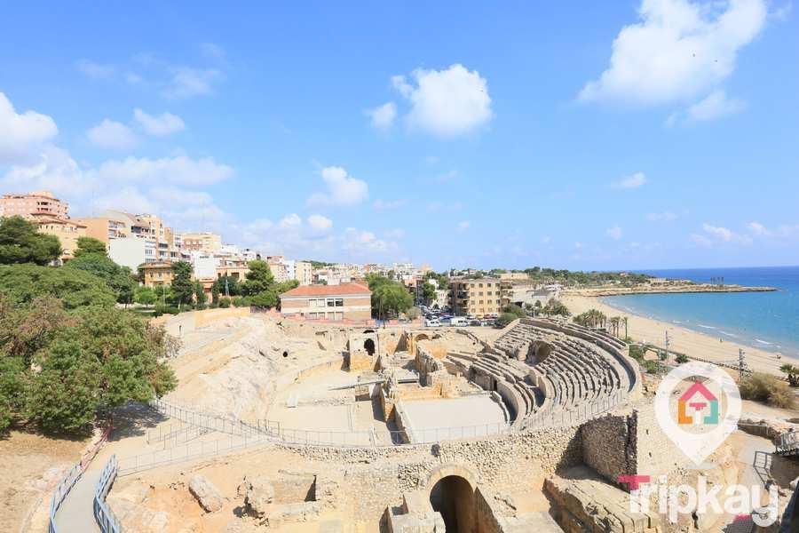 jardines del miracle y el anfiteatro en tarragona