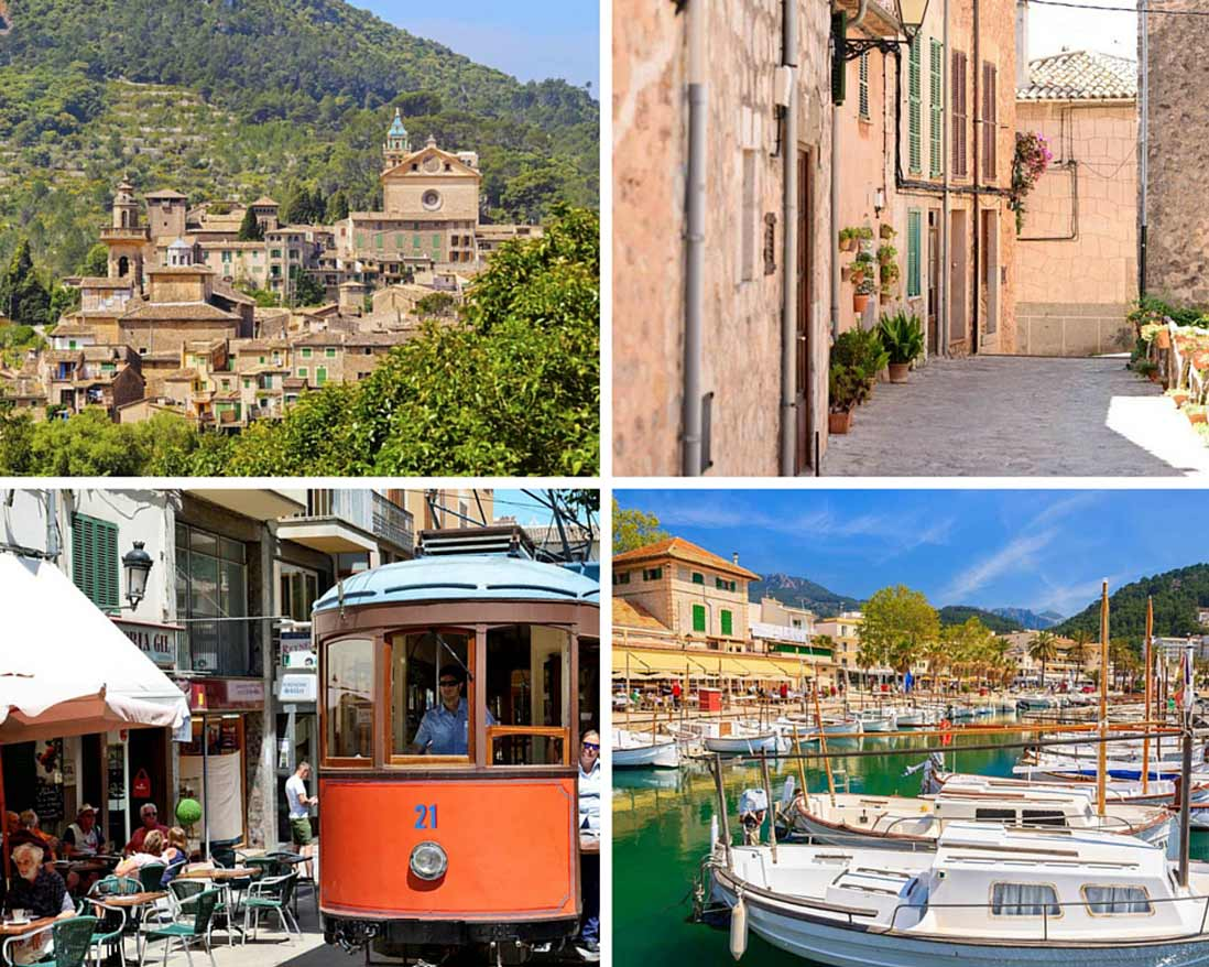 Imprescindibles de Mallorca puerto de Soller y pueblo de Valldemosa en Mallorca