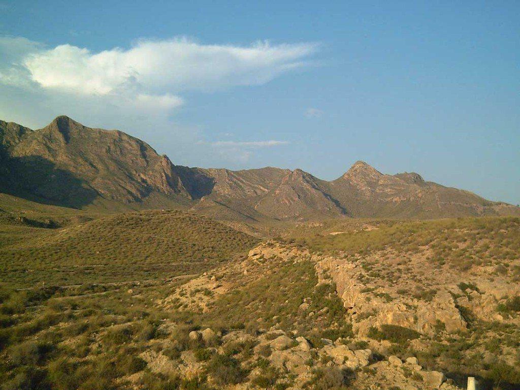 Imprescindibles de Mazarrón Cordillera montañosa de la Sierra de las Moreras en Mazarron, España