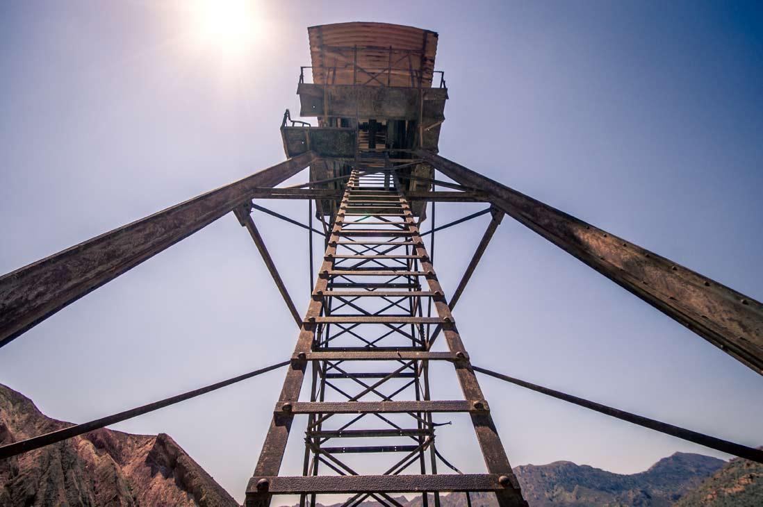 antiguo torre de Minas abandonadas de Mazarrón