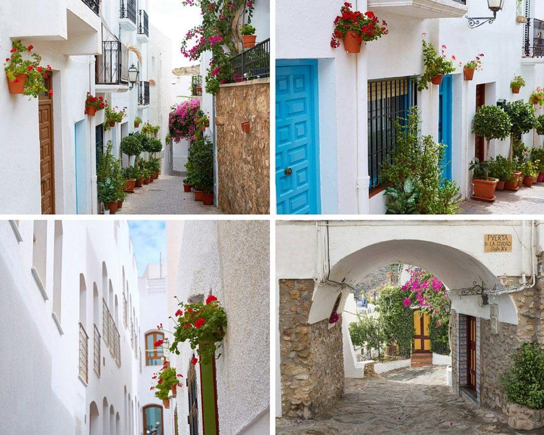 calles estrechas de Mojacar en Almeria