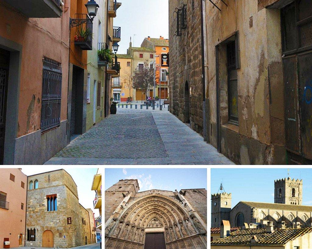 calles estrechas y monumentos de castello d'empuries en la costa brava